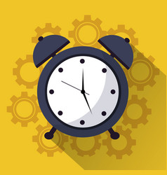 time clock alarm work team icon vector image
