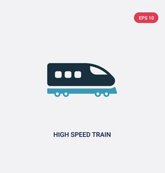 two color high speed train icon from transport vector image
