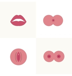 Types of sex icons vector