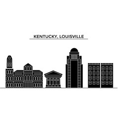 Usa kentucky louisville architecture city vector