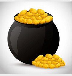 Vase of treasure icon vector