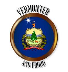 Vermont proud flag button vector