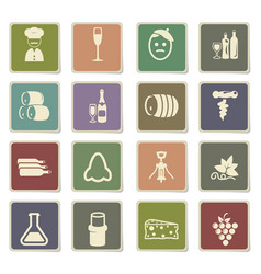 vineyard icon set vector image
