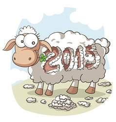 Year Of the Sheep 2015 Cartoon vector image