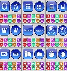 Yen Apps Mobile phone Crown Reserve Radar Charging vector