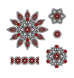Abstract Flower Patterns Decorative ethnic vector image vector image