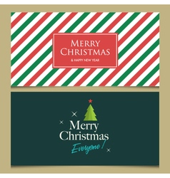 christmas cards set 1 vector image vector image