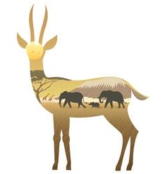 Gazelle Landscape vector image vector image