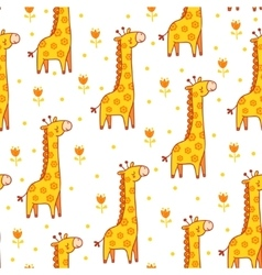 seamless with giraffes vector image vector image