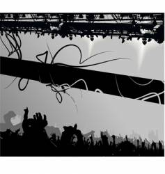 show crowd silhouette banner vector image vector image