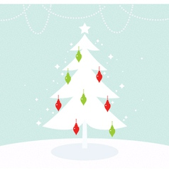 Beautiful Christmas and New Year greeting card vector image vector image