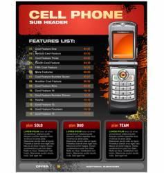 cellphone brochure vector image vector image