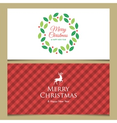 christmas cards set 2 vector image vector image