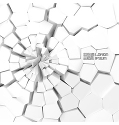 Cracked background vector