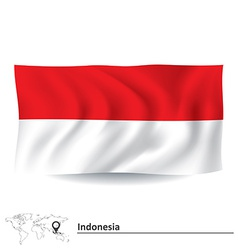 Flag of Indonesia vector image