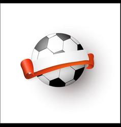flat cartoon football ball banner isolated vector image vector image