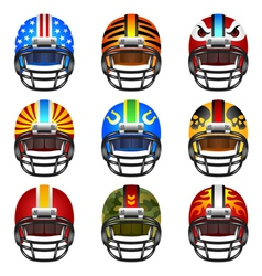 Football helmet set vector image vector image