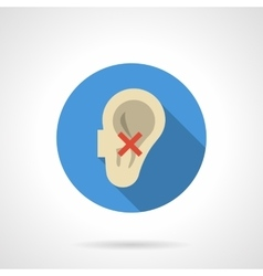 Hearing problems round color icon vector image