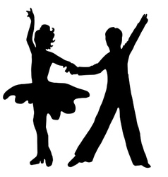 High quality original Pair kids dance isolated on vector image vector image