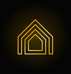 property thin line golden icon vector image