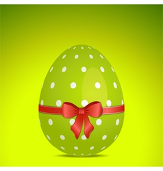 green polka dot easter egg vector image vector image