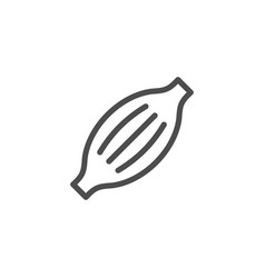 muscle line icon vector image