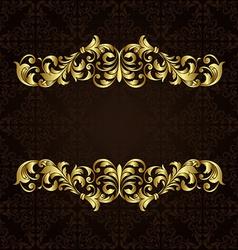 ornate gold border vector image vector image