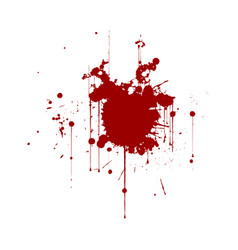 red ink splatter background isolated on white vector image