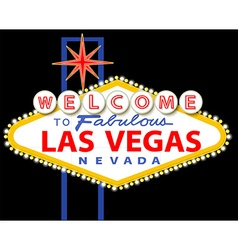 Welcome to fabulous Las Vegas Nevada sign vector image