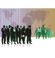 world business traders vector image