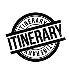 Itinerary rubber stamp vector