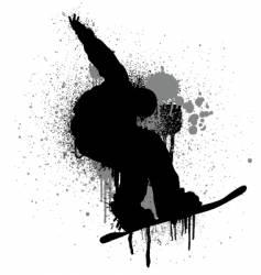 stencil snowboarder vector image vector image