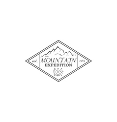 Summer mountain camp badge logo label and icon vector image