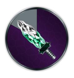 sword curved in progress frame vector image