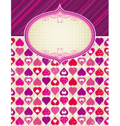 valentine background with pink and red hearts vector image