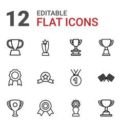 12 champion icons vector