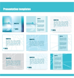 213 5 2016 presentation template vector image