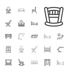 22 furniture icons vector