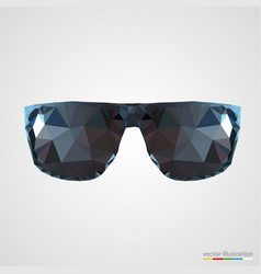 abstract black sunglasses vector image