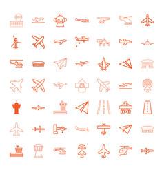 aircraft icons vector image