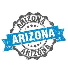 Arizona round ribbon seal vector