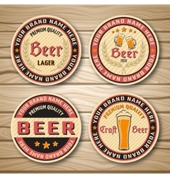 Beer Label Or Emblem Set vector