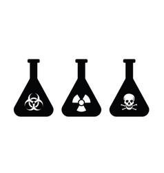 Biological hazard glass poison bottle vector