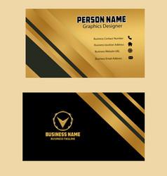 black golden color business card image vector image