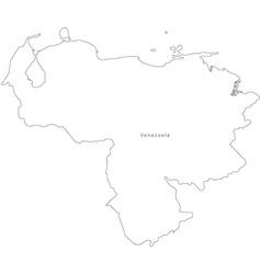 Black White Venezuela Outline Map vector image
