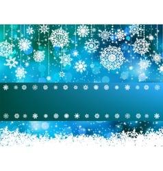 Blue bokeh of christmas lights EPS 8 vector