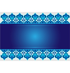 blue ottoman serial patterns eleven vector image