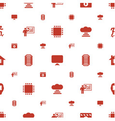 Board icons pattern seamless white background vector
