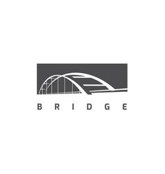bridge logo design template vector image