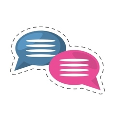 Bubbles speech dialog message communication vector